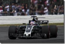 Romain Grosjean al volante della Haas