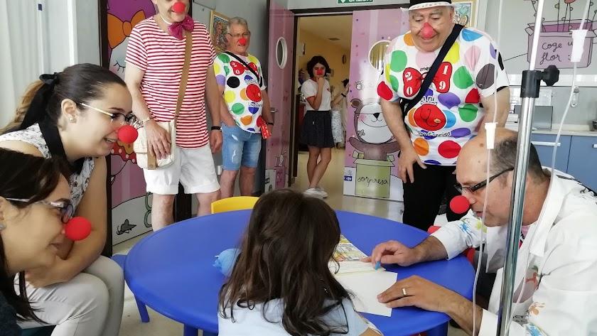 Desarrollo de una de las actividades en el Hospital de Poniente.