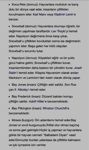George Orwell kitap karakterleri