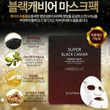 韓國出名品牌ENPRANI 黑魚子醬深層極致緊緻抗皺面膜貼10片裝