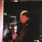 The November 08 Jazz Gumbo featured saxophonist Sandy Spivey, backed by the Guffman Trio (Cynthia Domulot, piano; Fred Domulot, drums; Tom Latenser, bass.
