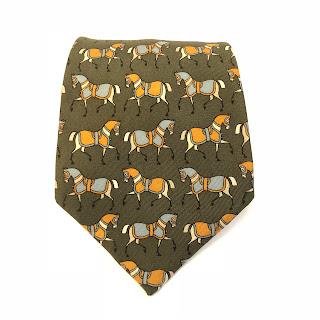 Hermès Green Horse Tie