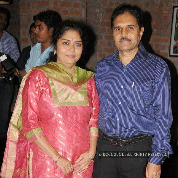 Dr Vaishali and Dr Ashok Arbat during Dr Sameer Arbat's success party at Hotel Travotel in Nagpur.