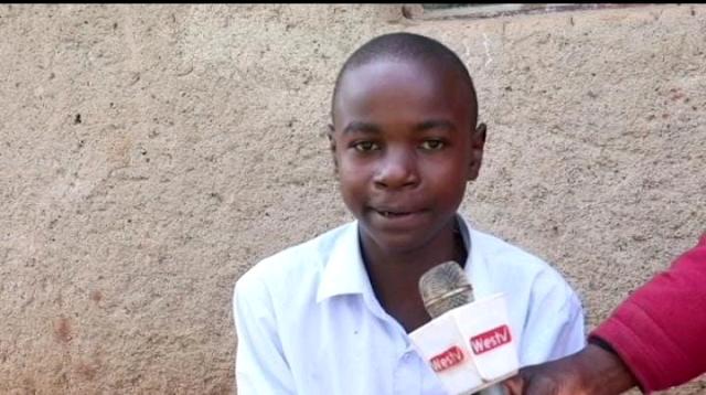 Spencer Wangila, who was yo join girls' school photo