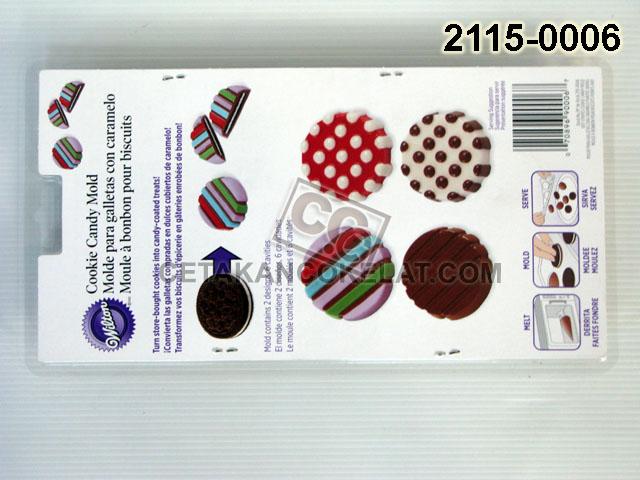 Cetakan Coklat Oreo 2115-0006 Dot Stripes cokelat wilton