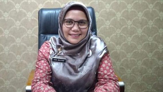 Foto: Feri Mulyani Hamid. Pedagang Pasar Raya Padang Jangan Takut Tes Swab.