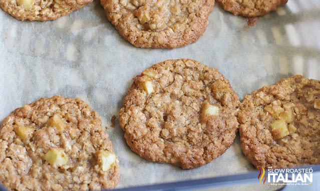 air fryer oatmeal cookies on rack