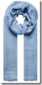 Hallhuber soft denim blue scarf