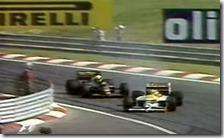 Il sorpasso di Nelson Piquet ad Ayrton Senna