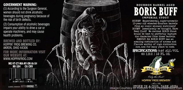 Hoppin' Frog Bourbon Barrel-Aged Boris Buff Coming To Rare Beer Club