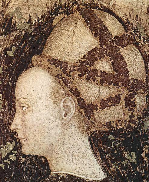 Pisanello - St. George and the Princess,Detail