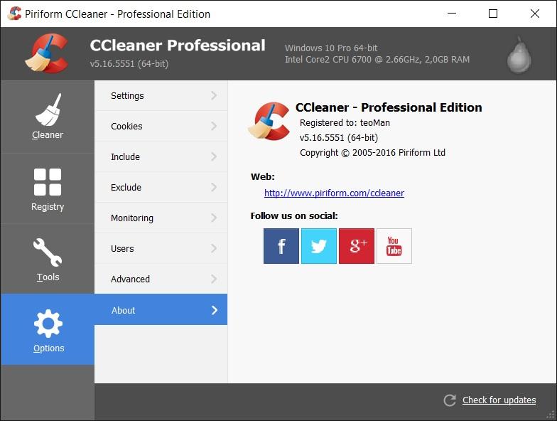CCleaner Professional Plus 5.52 Türkçe