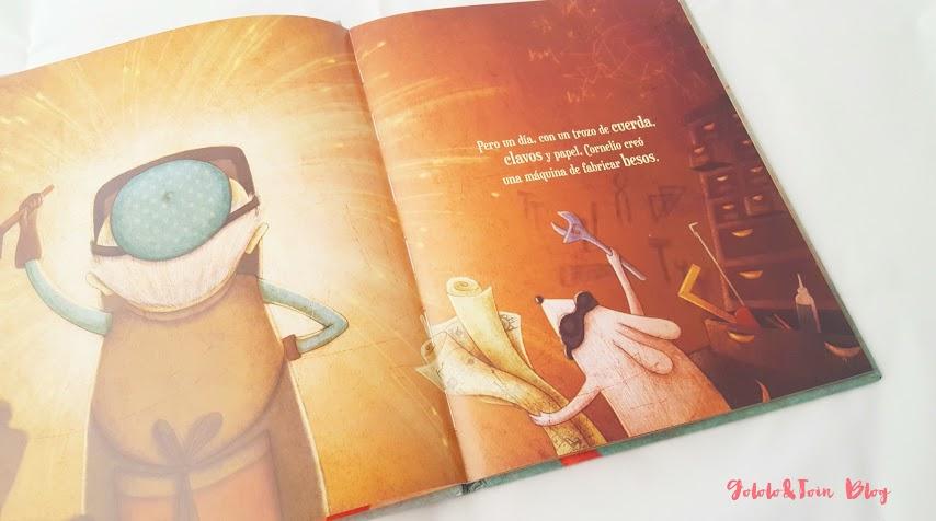 álbum-ilustrado-maquina-fabricar-besos-tramuntana-infantil-cuentos-niños