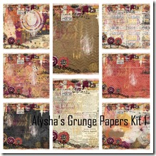 Alysha's Grunge Papers Kit 1 collage