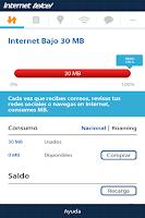 Screenshot of Consumo de Internet