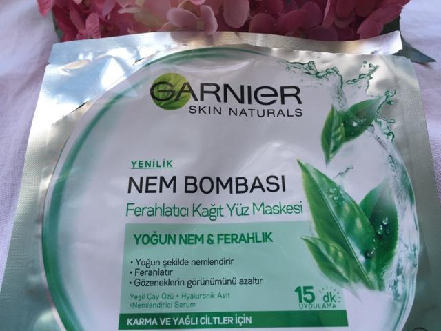 Garnier Nem Bombası Ferahlatıcı Kağıt Yüz Maskesi