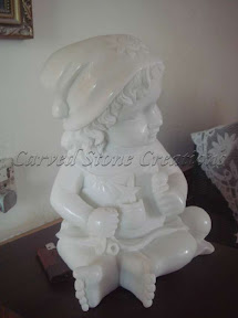 Cherub, Child, Figure, Interior, Marble, Natural Stone, Statues