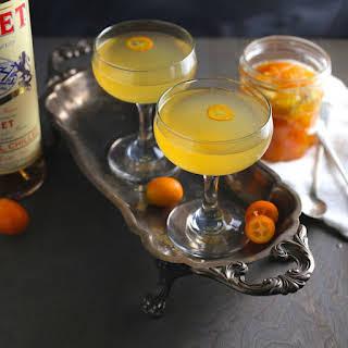 Kumquat-Ginger Rosé Cocktail.