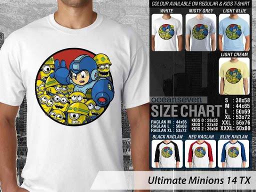 Kaos Kartun Ultimate Minions 14 distro ocean seven