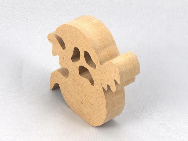 Handmade Wood Toy Halloween Ghost Cutout