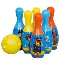 paw patrol bowling set skittles