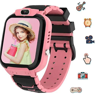 Pink Smart Watch for Kids with Camera