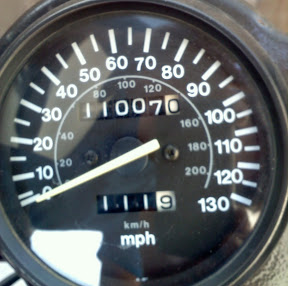 Suzuki GS500 Odometer reading 11k miles
