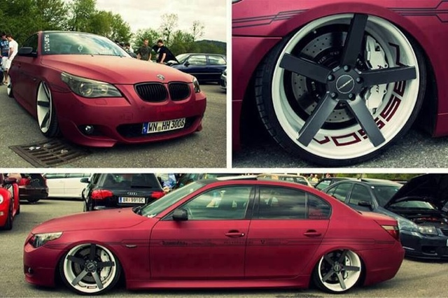 Custom BMW : 2005 BMW m5 E60 with vossen wheels