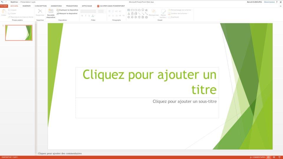 Illustration PowerPoint Web App