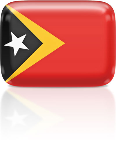 Timorese flag clipart rectangular