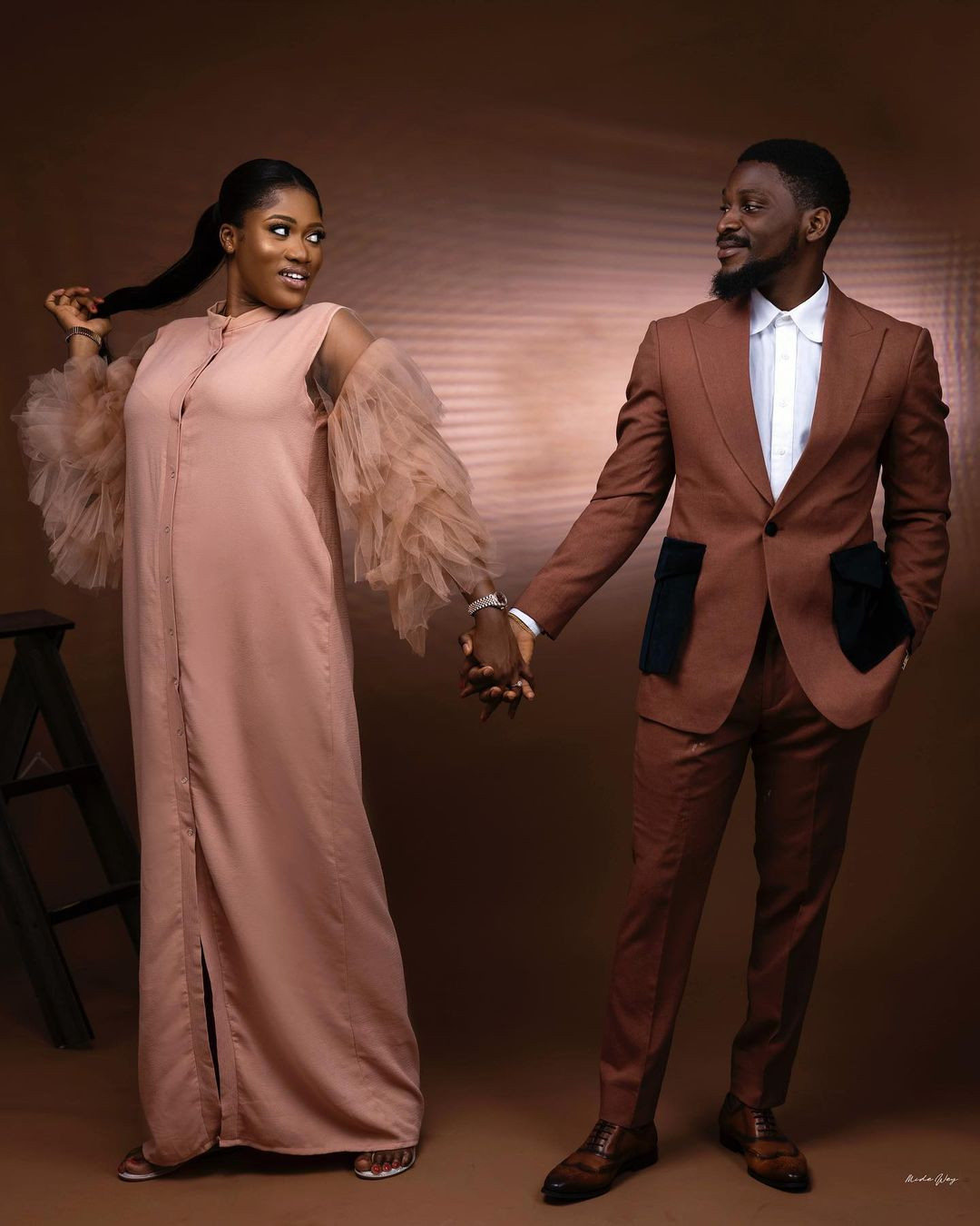 ''I prayed and you came'' Tobi Bakare, gushes over his bride-to-be as he shares more pre-wedding photos
