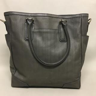 Coach Green/Grey Tote Bag
