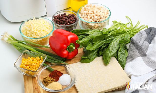 southwestern egg rolls recipe ingredients