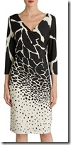Gina Bacconi printed jersey wrap effect dress