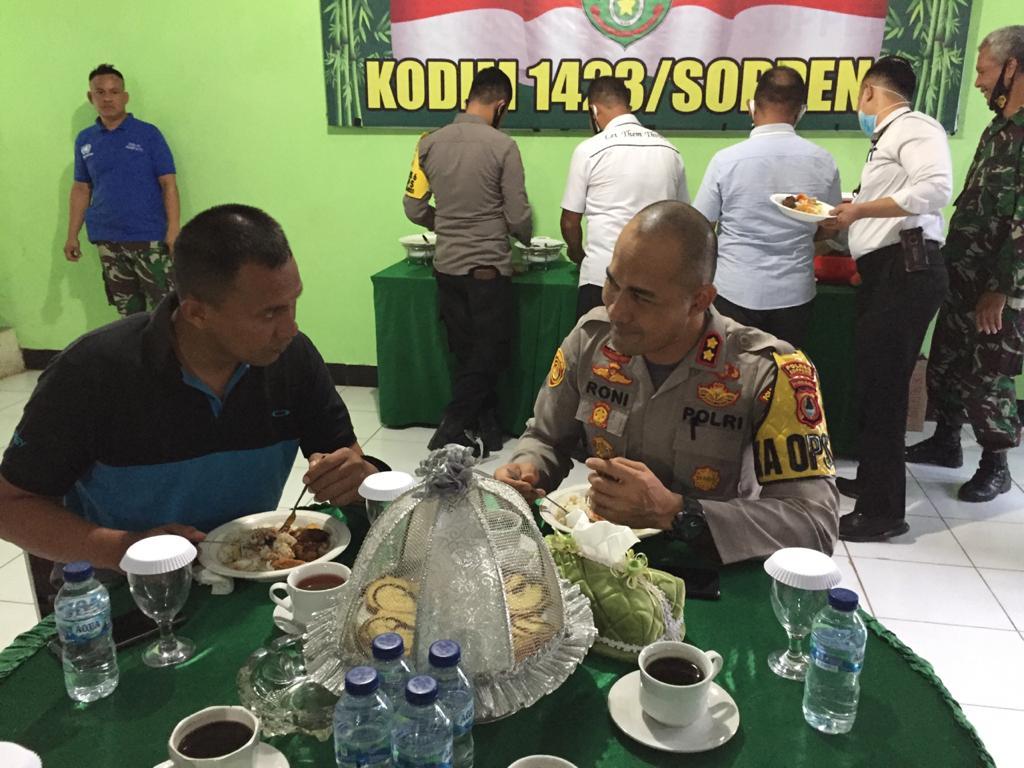 Kunjungan Perdana Kapolres Soppeng Sambangi Makodim 1423/Soppeng, Ini Tujuannya