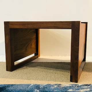 Contemporary Teak End Table