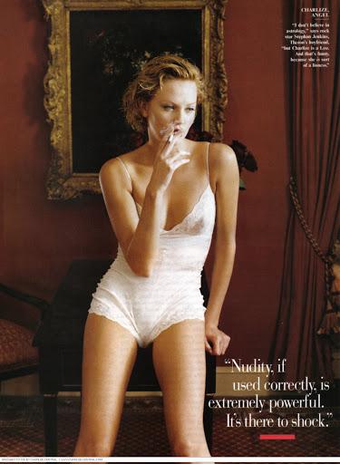Αποτέλεσμα εικόνας για charlize theron vanity fair 1999