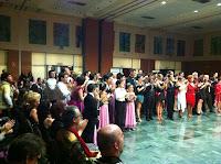 Junto con el resto de los bailarines del concurso