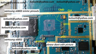 ISP PinOut Samsung GT-S6802