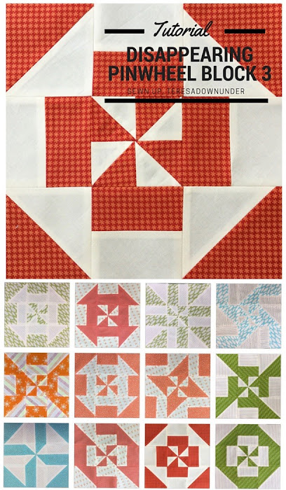 Block 3 - Disappearing pinwheel quilt sampler