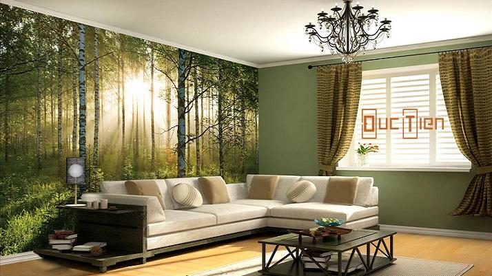 Chọn tranh treo tường để tạo điểm nhấn cho phòng khách.