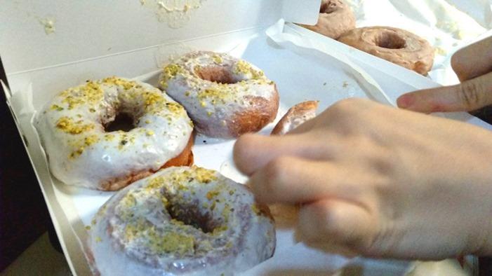Miuccia pistachio doughnuts