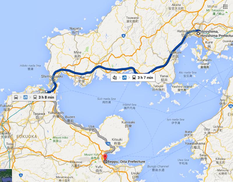 Beppu Umami Savvy - Japan map beppu
