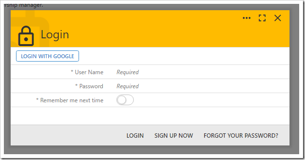 "The ""LOGIN WITH GOOGLE"" action is now visible in the login form."