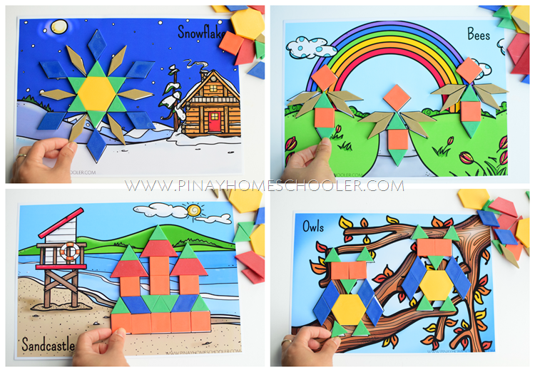 Seasonal Pattern Blocks Mats