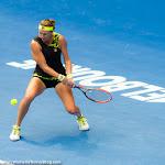 Yaroslava Shvedova in action at the 2016 Australian Open