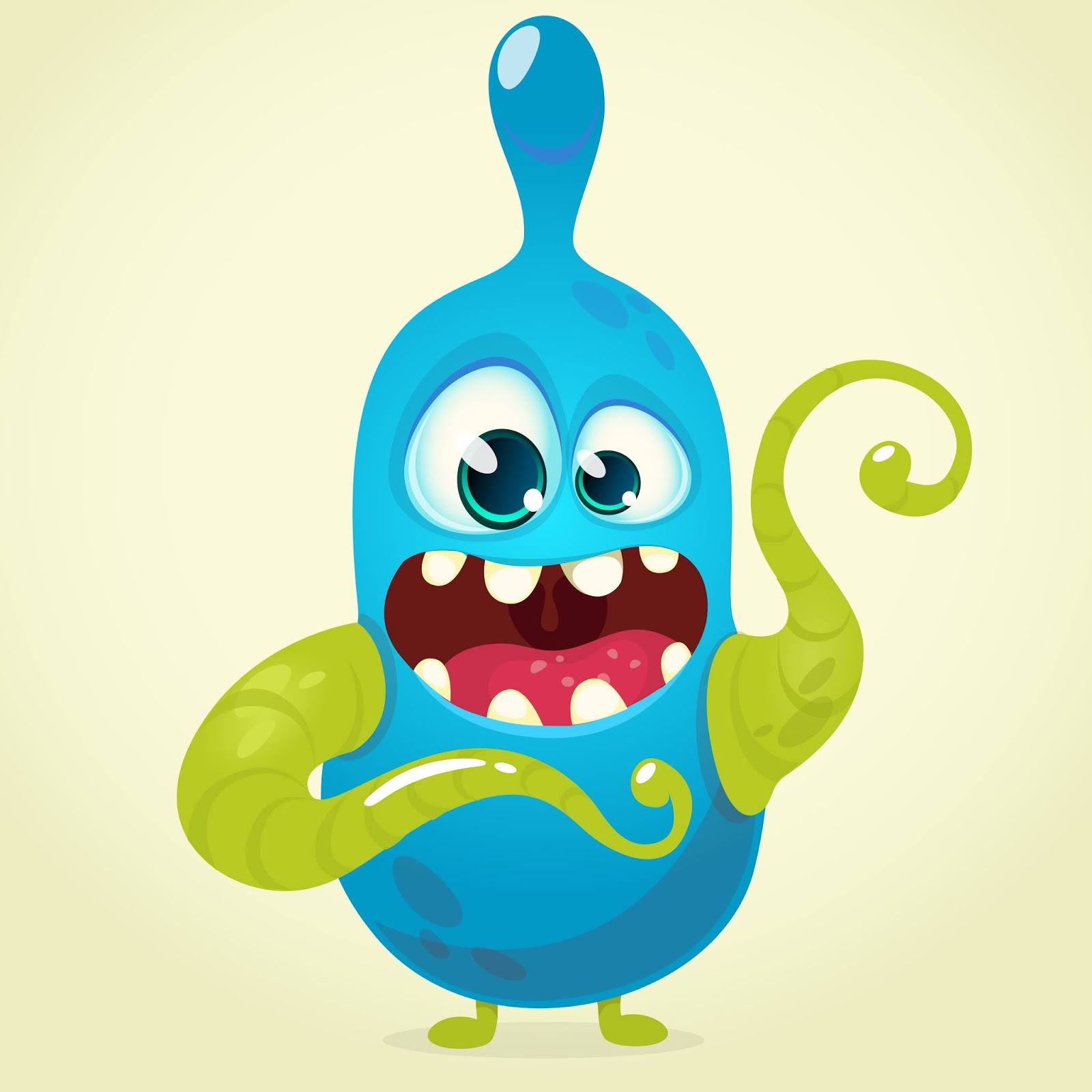 Funny Cartoon Monster Halloween Style Free Download Vector CDR, AI, EPS and PNG Formats