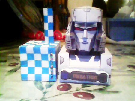 Transformers G1 Megatron Papercraft Bust