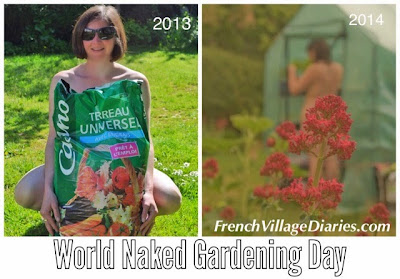 French Village Diaries World Naked Gardening Day #WNGD
