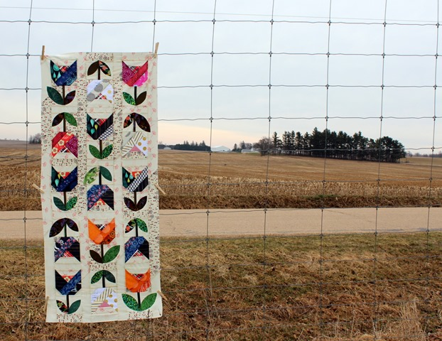 Dutch Tulip Quilt Top by Kim Lapacek